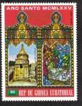 Sellos de Africa - Guinea Ecuatorial -  Semana Santa 1975 , Año Santo : Edificios en Jerusalén