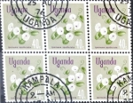 Sellos del Mundo : Africa : Uganda : Intercambio 1,20 usd 6 x 40 cent. 1969