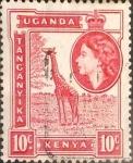 Sellos del Mundo : Europa : Reino_Unido : Intercambio 0,20 usd  10 cent. 1954