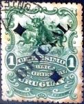 Stamps Uruguay -  Intercambio 0,20 usd  1 cent. 1901