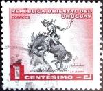 Sellos del Mundo : America : Uruguay : Intercambio 0,20 usd  1 cent. 1954