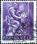 Stamps : Europe : Vatican_City :  Intercambio 0,20 usd 10 l. 1966