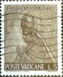 Stamps : Europe : Vatican_City :  Intercambio 0,20 usd 5 l. 1966