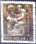 Stamps Vatican City -  Intercambio 0,20 usd 15 l. 1966