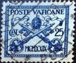Sellos del Mundo : Europa : Vaticano : Intercambio 0,45 usd 25 cent. 1929