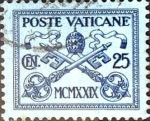 Stamps : Europe : Vatican_City :  Intercambio 0,45 usd 25 cent. 1929