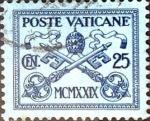 Sellos del Mundo : Europa : Vaticano : Intercambio 0,45 usd 25 cent. 1929