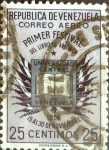 Sellos de America - Venezuela -  Intercambio 0,20 usd 25 cent. 1956
