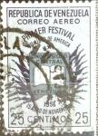 Stamps Venezuela -  Intercambio 0,20 usd 25 cent. 1956