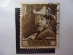 Stamps Spain -  Ed: 1570 - Autorretrato de Joaquín Sorolla Bastidas - Centenario de su Nacimiento.