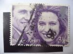 Sellos de Europa - Reino Unido -  Prlncesa Anne Elizabeth y el Capitan Mark Anthony Philips - Boda 14 November 1973.