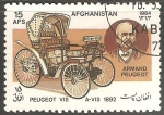 Stamps : Asia : Afghanistan :  Peugeot 1892-Armand Peugeot