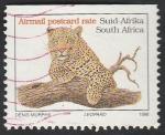 Sellos de Africa - Sudáfrica -  Leopardo