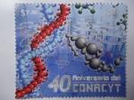Sellos de America - México -  40 Aniversario del Concejo nacional de Ciencia y tecnología - Conacyt.