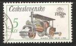 Sellos de Europa - Checoslovaquia -  Silnicni parni valec 1936-Aplanadora Carretera