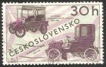 Stamps Czechoslovakia -  Automoviles antiguos