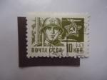 Sellos de Europa - Rusia -  Soldado - CCCP 1966.