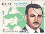 Sellos de America - Nicaragua -  XXVI Aniv.del Principio del Fin de la Dictadura- Ausberto Narváez