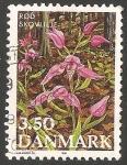 Sellos de Europa - Dinamarca -  Flores