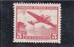 Sellos del Mundo : America : Chile : avión bimotor