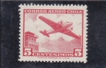 Stamps : America : Chile :  avión bimotor