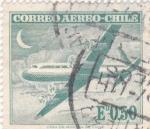 Sellos de America - Chile -  avión- quatrimotor