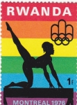 Sellos de Africa - Rwanda -  olimpiada Montreal-76