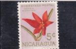 Stamps Nicaragua -  flores- bidentada