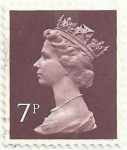 Stamps United Kingdom -  SERIE ISABEL II TIPO MACHIN. VALOR FACIAL 7p. YVERT GB 734a
