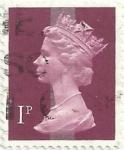 sello : Europa : Reino_Unido : SERIE ISABEL II TIPO MACHIN. VALOR FACIAL 1 p. YVERT GB 606a