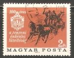Sellos de Europa - Hungría -  carruaje de caballos