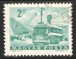 Stamps Hungary -  Mobile Radio Transmitter and Stadium
