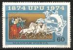 Sellos de Europa - Hungría -  Centenario U.P.U. 1874-1974-Unión Postal Universal