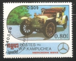 Stamps Cambodia -  Mercedes Benz