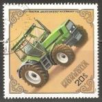 Sellos de Asia - Mongolia -  Tractor