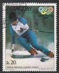 Stamps : America : Paraguay :  Christa Kinshofer, medalla de oro en las Olimpiadas de Invierno de Lake Placid