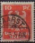 Sellos de Europa - Alemania -  DEUTSCHES REICH 1924 Scott332 Sello Serie Aguila Alemania Michel357