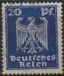 Stamps Europe - Germany -  DEUTSCHES REICH 1924 Scott333 Sello Serie Aguila Alemania Michel 358