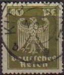 Sellos del Mundo : Europa : Alemania : DEUTSCHES REICH 1924 Scott335 Sello Serie Aguila Alemania Michel 360