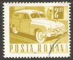 Sellos de Europa - Rumania -  Coche postal
