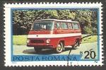 Stamps Romania -  TV 12M van