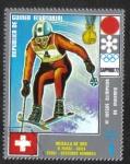 Sellos de Africa - Guinea Ecuatorial -  Medallistas de los Juegos Olímpicos de Invierno de 1972 , Sapporo