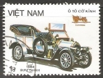 Sellos de Asia - Vietnam -  Viejos automobiles