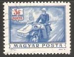 Sellos de Europa - Hungría -  Postman on motorcycle