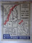 Sellos de America - Perú -  Frontera Fijada por el Protocolo de Río de Janeiro 1942.