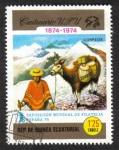 Sellos de Africa - Guinea Ecuatorial -  U.P.U. Centenario y ESPAÑA'75