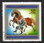 Sellos de Africa - Guinea Ecuatorial -  Pinturas de caballos chinos