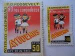 Stamps of the world : Colombia :  Instituto Colombiano F.D. Roosevelt - Viñeta de beneficencia para minusválidos- Ortopedia y rehabili