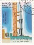 Sellos de Asia - Laos -  aeronáutica- aniversario Soyuz-Apolo