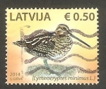 Stamps : Europe : Latvia :  Ave lymnocryptes minimus